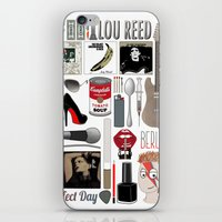 lou reed iPhone & iPod Skins featuring A tribute to Lou Reed by Lili's Damn Fine Shop