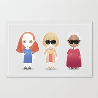 vogue Canvas Prints featuring Vogue by Ricky Kwong