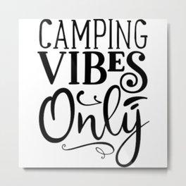 Camper Camping Caravan Camper Metal Print