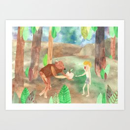 how I met my brother (part 2) Art Print