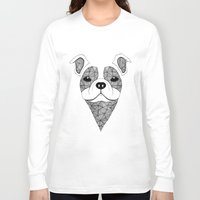 bulldog Long Sleeve T-shirts featuring Bulldog  by Art & Be