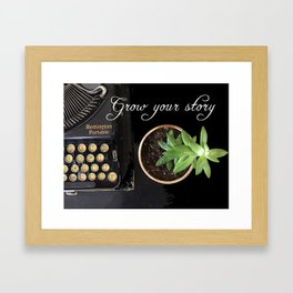 Grow Your Story Framed Art Print