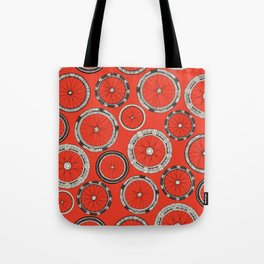 bike wheels fire Tote Bag