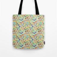 sunglasses Tote Bags featuring Sunglasses by Laura Barnes