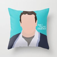 himym Throw Pillows featuring Marshall Ericksen HIMYM by Rosaura Grant