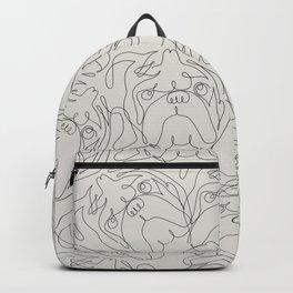 One Line English Bulldog Backpack