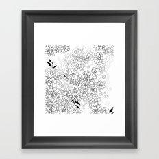 Succulents, black and white Framed Art Print