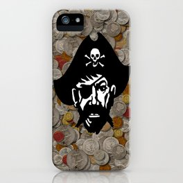 Captain Kidd II (The Rude Pirate) iPhone Case