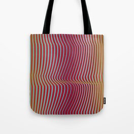 OpArt WaveLines 2 Tote Bag