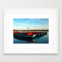 rowing Framed Art Prints featuring Rowing skips by Doug McRae