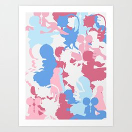 ReZero Rem Ram Camo Art Print