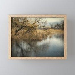 Cloudy day Framed Mini Art Print