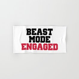 Beast Mode Engaged Gym Quote Hand & Bath Towel