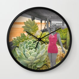 Plantes grasses Wall Clock