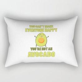 Funny Avocado Quote   Vegan Gift Idea Rectangular Pillow