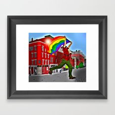 Bangor Maine PRIDE Framed Art Print