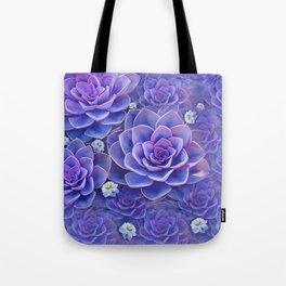 """""""Bouquet of pastel violet exotic succulents"""" Tote Bag"""