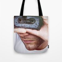 cassette Tote Bags featuring Cassette by 60infinito