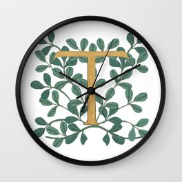 Forest Letter T Lite 2020 Wall Clock