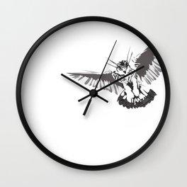 Owl of the Pheonix White Wall Clock