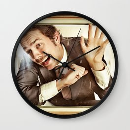 Man trapped in TV Wall Clock