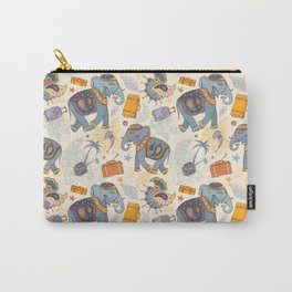 Hand Drawn illustration. Elephant. Indian style. Carry-All Pouch