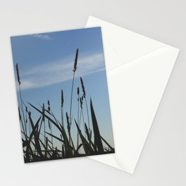 Green reeds large leaves Stationery Cards