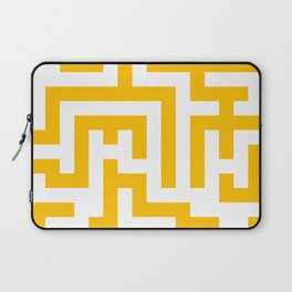 White and Amber Orange Labyrinth Laptop Sleeve