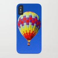 hot air balloon iPhone & iPod Cases featuring  hot air balloon by Lavender~Ramonde