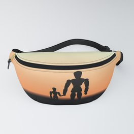 New Day Sunrise or Sunset for Father and Child Wooden Dolls Fanny Pack