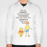 winnie the pooh Hoodies featuring WINNIE THE POOH by DisPrints