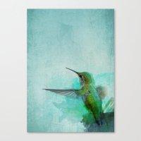 hummingbird Canvas Prints featuring Hummingbird by Marvelis