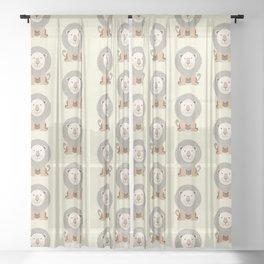 Whimsical Lion Sheer Curtain
