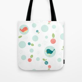 Birds with Polka Dots Tote Bag