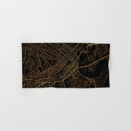 Black and gold Ho Chi Minh map, Vietnam Hand & Bath Towel