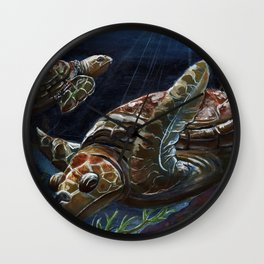 Green Sea Turtles Wall Clock