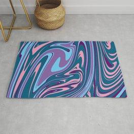 Abstract Liquid Pastel Texture Rug