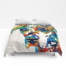 Colorful Great Dane Art Dog By Sharon Cummings Comforters