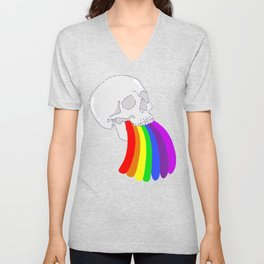 Rainbow Vomit Unisex V-Neck