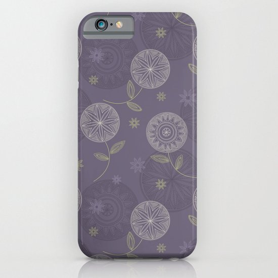 Folky Lace Flowers iPhone & iPod Case