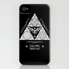 Legend of Zelda Kingdom of Hyrule Crest Letterpress Vector Art Slim Case iPhone (4, 4s)