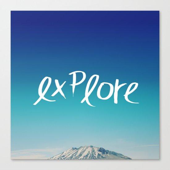 Explore: Mountain Canvas Print