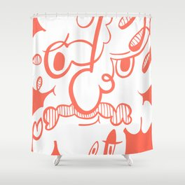 Doodle of the day VIII Shower Curtain