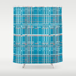 Digital Check Shower Curtain