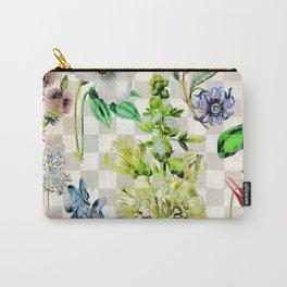 Checkered Garden Carry-All Pouch