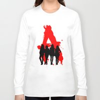 pretty little liars Long Sleeve T-shirts featuring A's Liars by Lindsay6Link