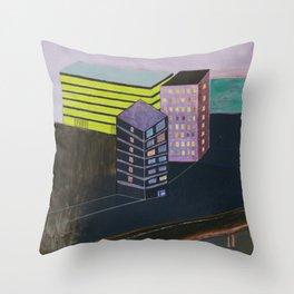 Nisja: urban landscape P Throw Pillow