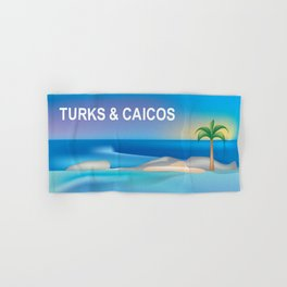 Turks and Caicos - Skyline Illustration by Loose Petals Hand & Bath Towel