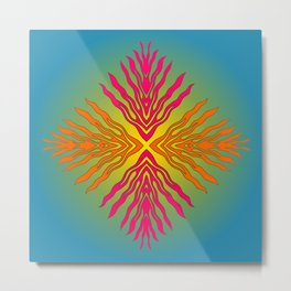 Flames composite - Papercut patterns Metal Print