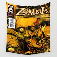 zombie Wall Tapestries featuring ZOMBIE - ZOMBIE by Don Kuing